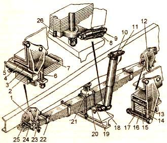 Рисунок 3.1. Передняя подвеска автомобиля ЗИЛ – 133 ГЯ
