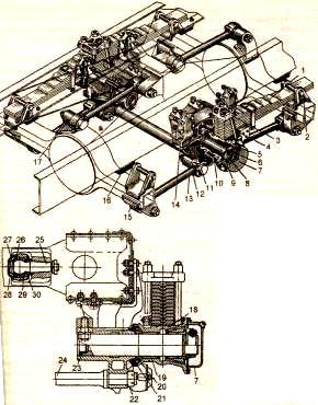 Рисунок 3.2. Задняя подвеска автомобиля ЗИЛ – 133ГЯ
